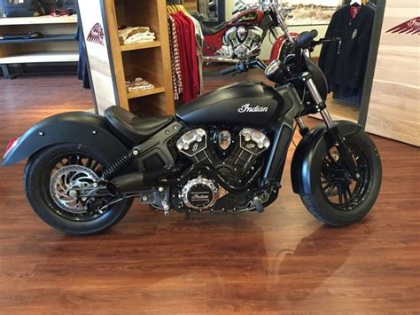 Indian Scout Motto by Indian Customs On Indian Motorbike Indian