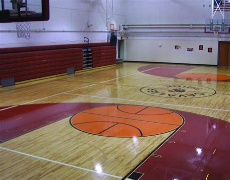 Sports Flooring Contractors by Commercial Epoxy Sports Floor Coating K 12 Installations