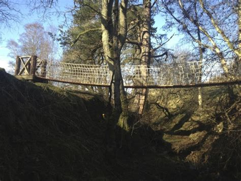 rope swing bridge wild northumbrian tipis yurts self catering in tarset