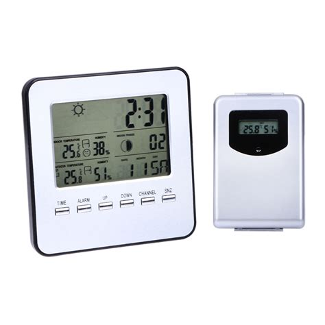lcd wireless weather station digital indoor outdoor