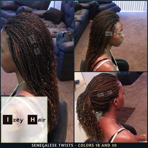 senegalese twist with color mid back length senegalese twist with curled ends colors