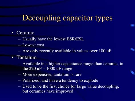 decoupling capacitor what value ppt pcb design layout tips powerpoint presentation id 219082