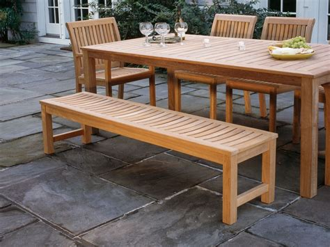 Patio Dining Bench attractive patio dining set with bench outdoor dining sets with bench seating metamorf design