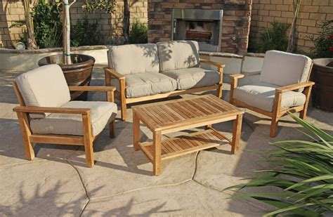 Teak Sectional Outdoor Furniture by Outdoor Teak Patio Furniture Homeblu