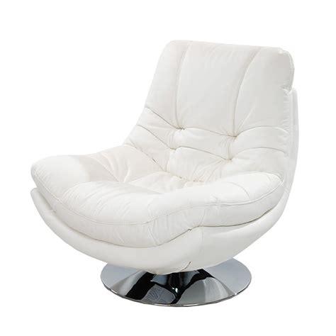 modern white leather chair