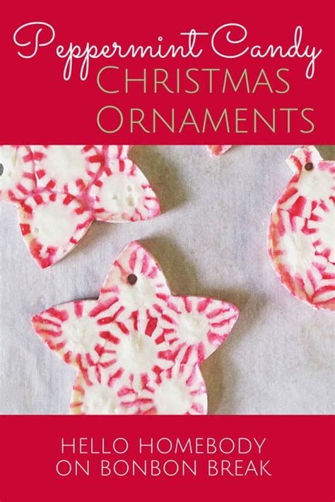 diy peppermint candy christmas ornaments