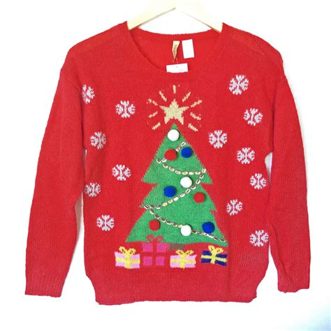 h m christmas tree red tacky ugly sweater the ugly