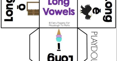 printable sound dice free short vowel and long vowel sort student dice and
