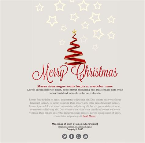 christmas greeting emails festival collections