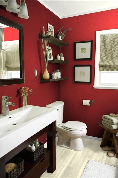 vibrant red bathrooms    decor dazzle