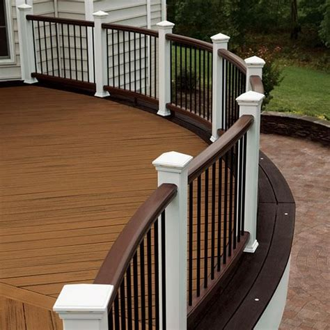 White Deck Railing With Black Balusters 20 Creative Deck Railing Ideas For Inspiration Hative