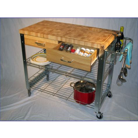 Chris Chris Stadium Kitchen Workstation Cart End Grain Kitchen Work Station Island