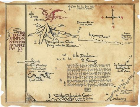 libro the tolkien treasury thr 243 r s map the hobbit inspired thorin s map