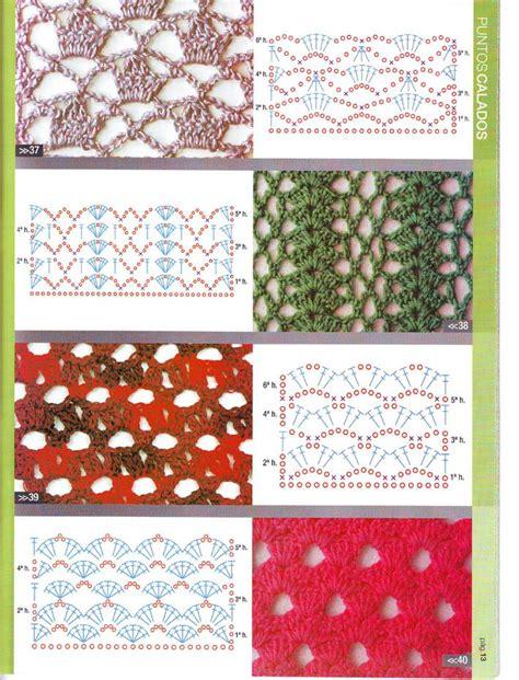 graficos de puntos calados de crochet patrones asgaya puntos calados crochet