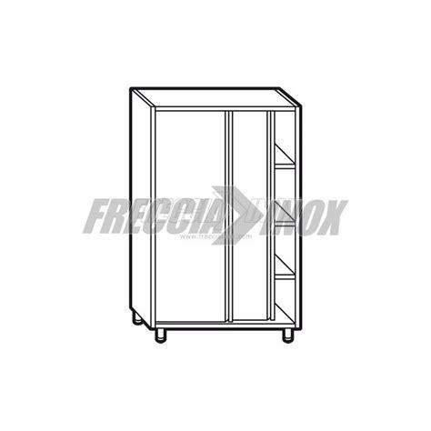 armadio acciaio armadio neutro acciaio inox porte scorrevoli l1600