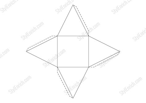 3d pyramid template free downloads different 3d shapes of diy room decor