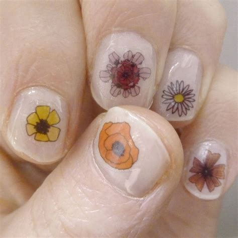 Nail Sticker Temporary Nail Stiker Kuku Flower 39 flower nail transfers by kate broughton
