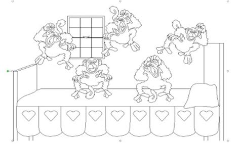 five little monkeys coloring pages pictures to pin on