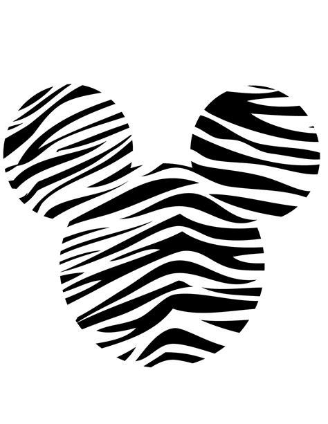minnie head zebra black white free images at clker com