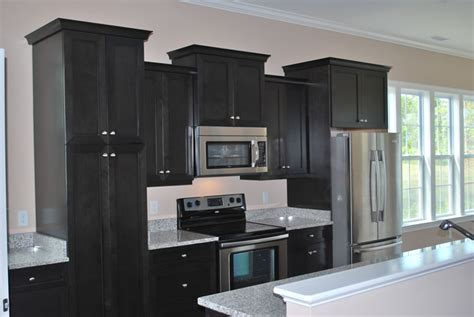 pictures of kitchens with black cabinets black kitchen cabinets