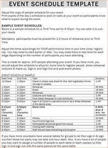 Events Schedule Template by 6 Event Schedule Template Bookletemplate Org