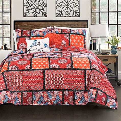 bed bath and beyond meridian buy lush decor meridian reversible full queen quilt set in