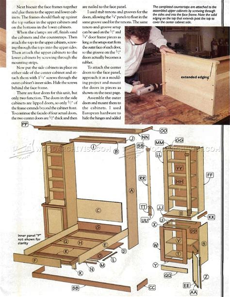 Murphy Bed Plans Pdf by Murphy Bed Plans Woodarchivist