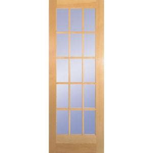 home depot glass interior doors builder s choice 30 in x 80 in 30 in clear pine wood 15