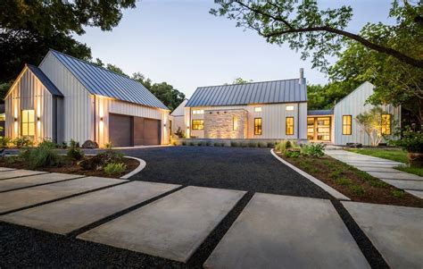 modern farmhouse exterior farmhouse with gravel driveway farmhouse driveway exterior farmhouse with metal roof