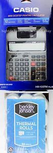 Paket Casio Hr 100 Tm Adaptor casio desktop printing calculator adding machine two color