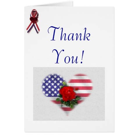 printable christmas cards for veterans patriotic thank you greeting card zazzle
