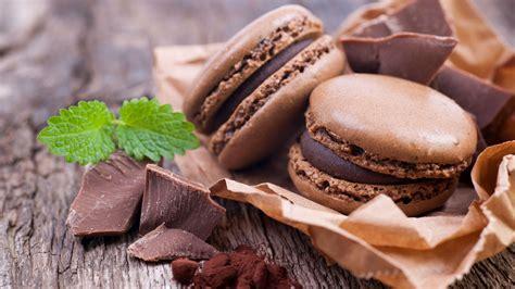 wallpaper makarons dessert baking chocolate cocoa