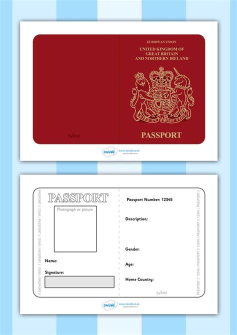 passport template passport template beepmunk