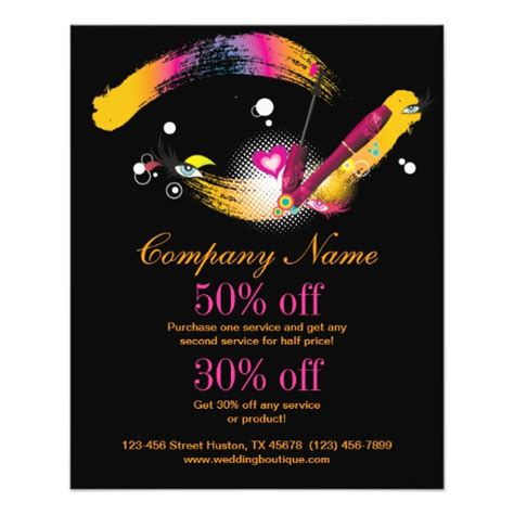 makeup artist flyers templates makeup artist promotional flyer zazzle