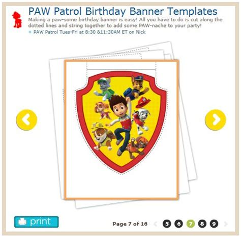 paw patrol templates http www nickjr printables paw birthday banner