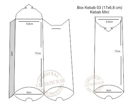 Bungkus Kemasan Pack Packing Kebab Ukuran Kecil 1 Bijinya www cetakmurah box kebab 03 17x6 8cm