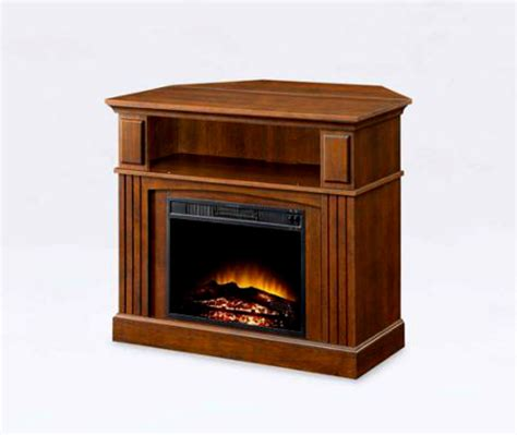 corner electric fireplace mantel heater entertainment tv
