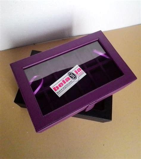 Kotak Tempat Jam Tangan Isi 6 jual kotak jam tangan isi 12 ungu tempat jam tangan