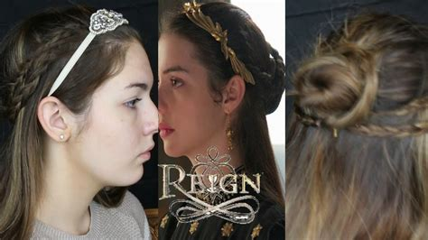 reign hairstyes mary queen of scots inspired hair tutorial quot reign youtube