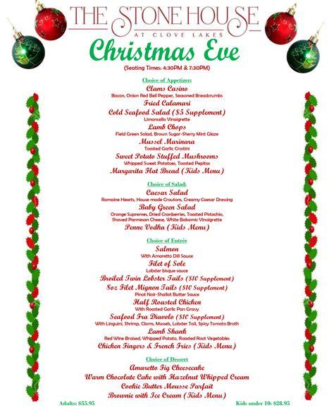 best new christmas menus menu the house