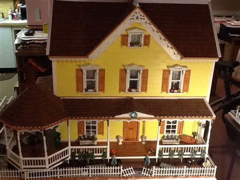 handmade dolls house beautiful wooden doll house built stephanie s estate handmade 1 12 scale wood ebay