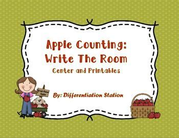 counting all the apples in the room free apple counting write the room count the room this is an apple themed math center it is