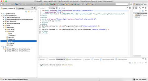 jsp url pattern web xml java init parameters in web xml not accessed in jsp