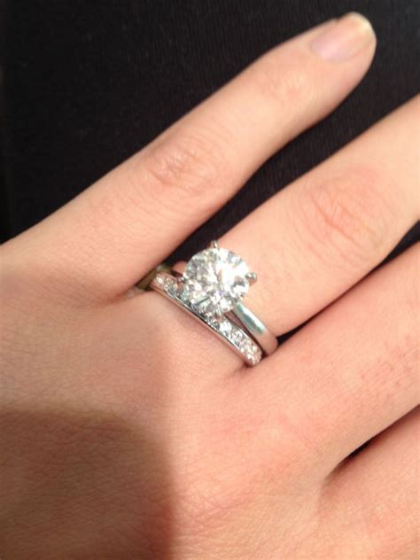 Wedding Bands To Pair With Solitaire by What Of Wedding Band Goes Nicely With A Solitaire