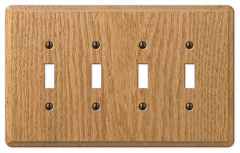 oak light switch covers contemporary oak wood 4 toggle wall plate contemporary