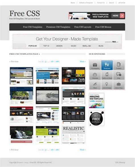 free html and css templates designfollow 20 best website free templates download freshdesignweb