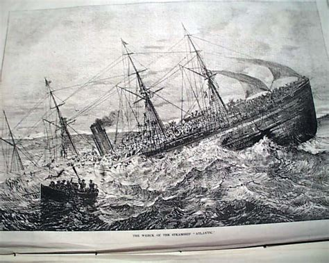 Wreck Of The Rms Atlantic R Newspapers M