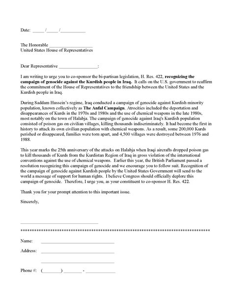 letter to congress format letter to congress format best template collection