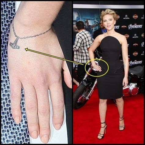scarlett johansson tattoos johansson s wrist about new york
