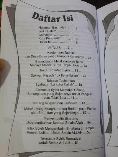 1 Set Kitab Tauhid Syaikh Ustaimin buku kitab tauhid syaikh muhammad at tamimi toko muslim title